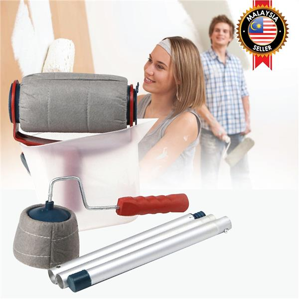 Magic Roller Handle Brush Refillable Paint DIY No Mess Drip Decoration