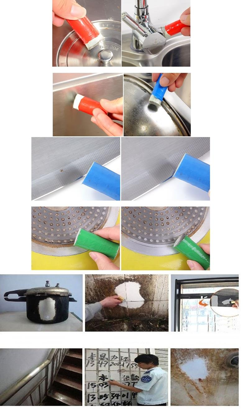 Magic Stainless Steel Brush Rust Remover Pot Tile Marble Sink Cleaning