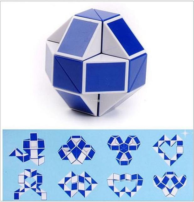 Magic Toy Snake Rubics 3D Cube Game Puzzle Fancy Toys For Children - C