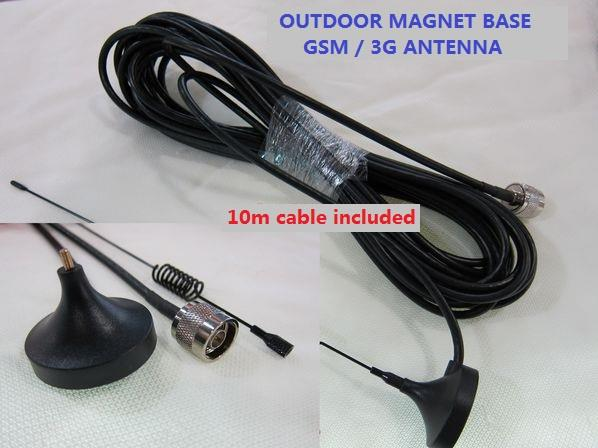 Magnet Base Outdoor GSM 3G antenna 10m cable included