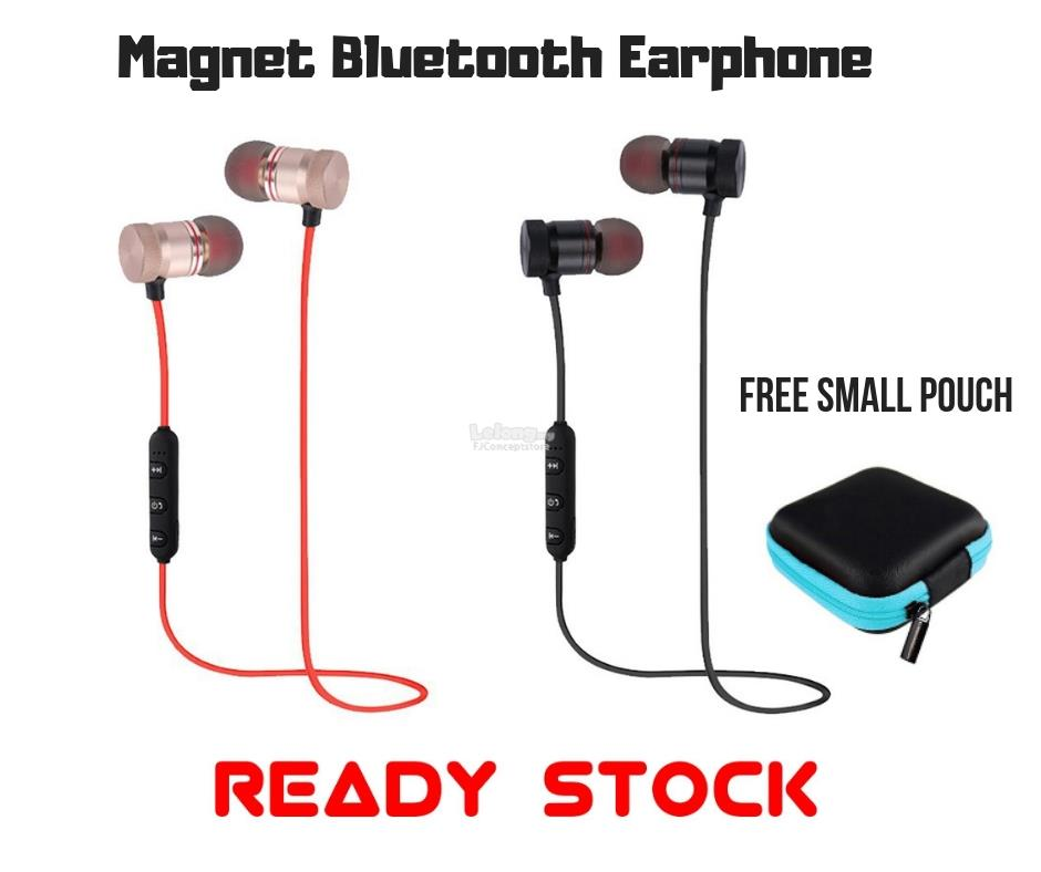 Magnet Bluetooth Earphone Free small Pouch (11.11 Event )