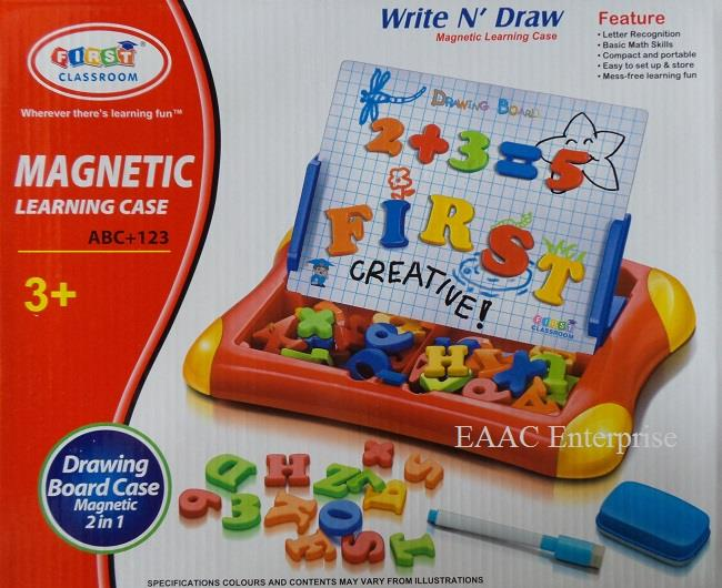 Alphabet Learning Toys : Magnetic learning case drawing board end pm