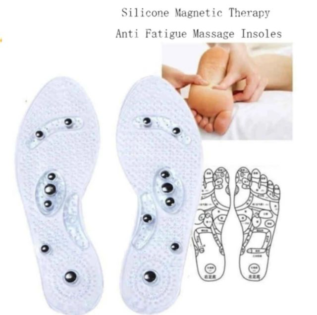Magnetic Therapy Silicone Insole Silicone For Pain Rel - [TRANSPARENT]