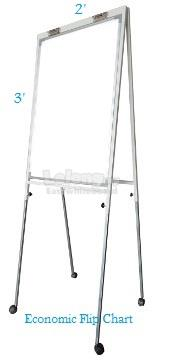 Magnetic White Board 3' x 6' c/w mobile stand - Free Deliver & Install