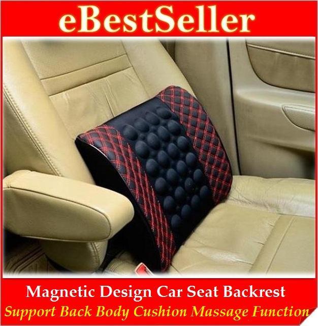 Magnetize Backrest Cushion Car Seat Back Support Wf Massage Function