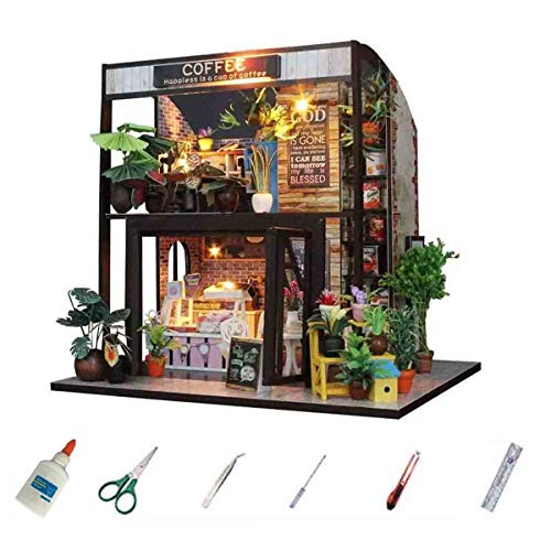 MAGQOO Dollhouse Miniature DIY House Kit Creative Room with Furniture,1:24 Sca