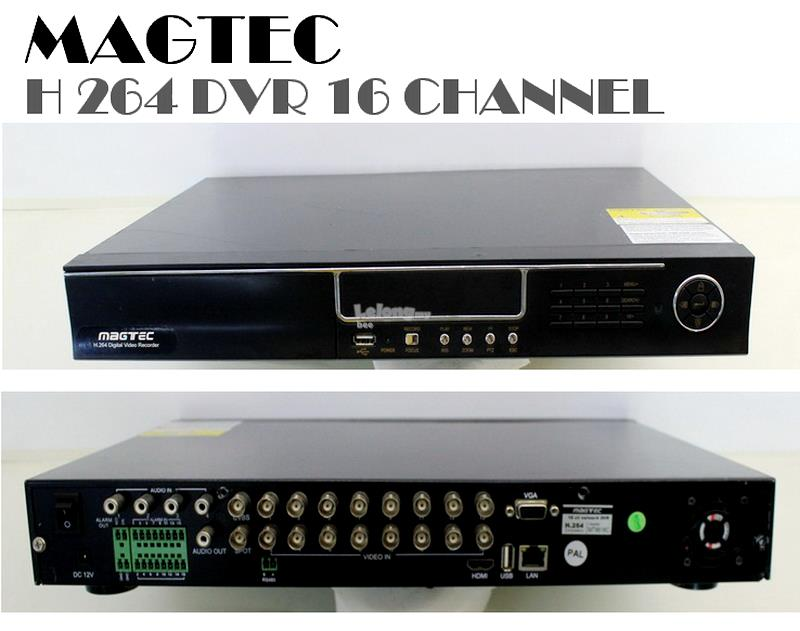 MAGTEC H264 DVR 16 CHANNEL VGA CCTV NETWORK