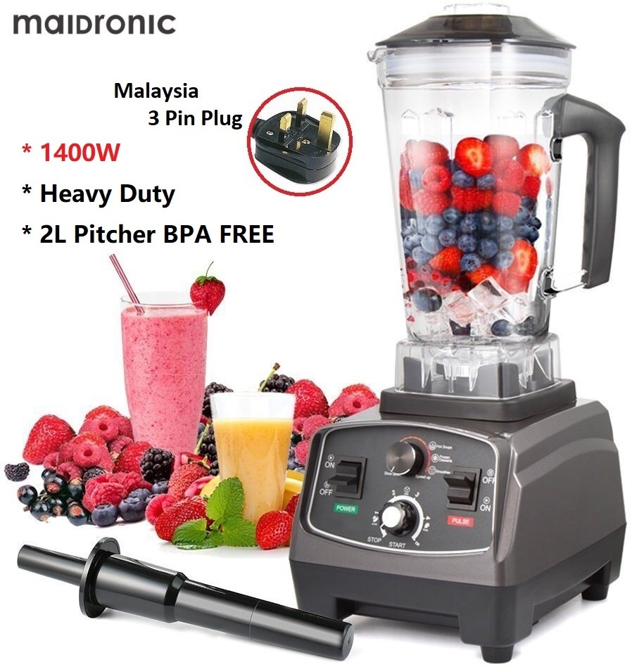 Maidronic 1400W With Timer Heavy Duty Juicer Commercial Blender