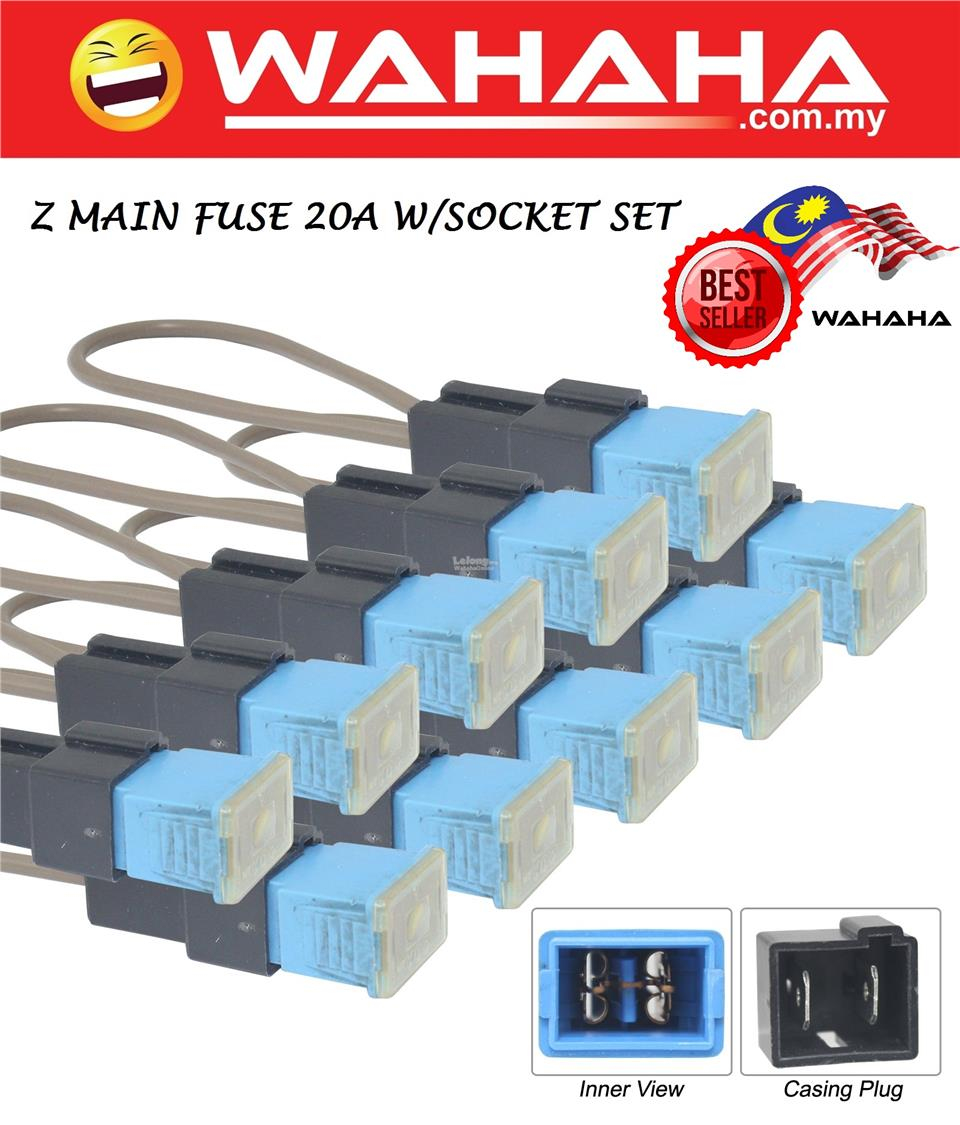 Main Fuse 20A with Socket Set Square Fuse Tube for Car Air Conditionin