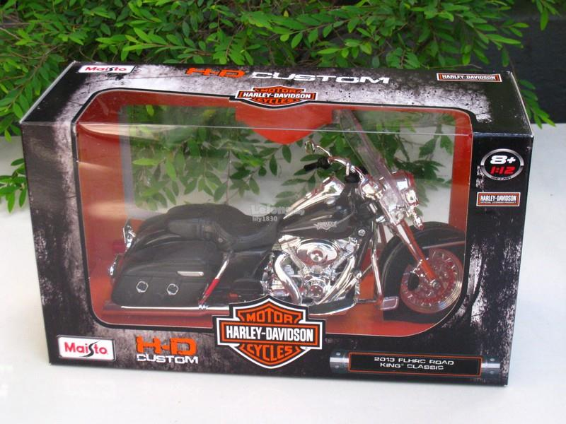 Maisto 1/12 Harley Davidson (2013) FLHRC Road King Classic (Black)