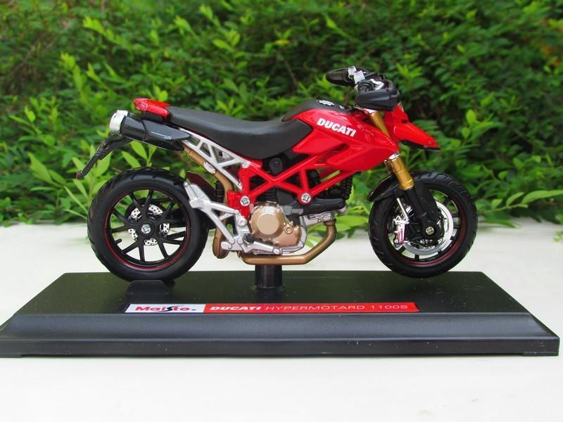 Maisto 1/18 Diecast Motorcycle DucatiHypermotard 1100S (Red)