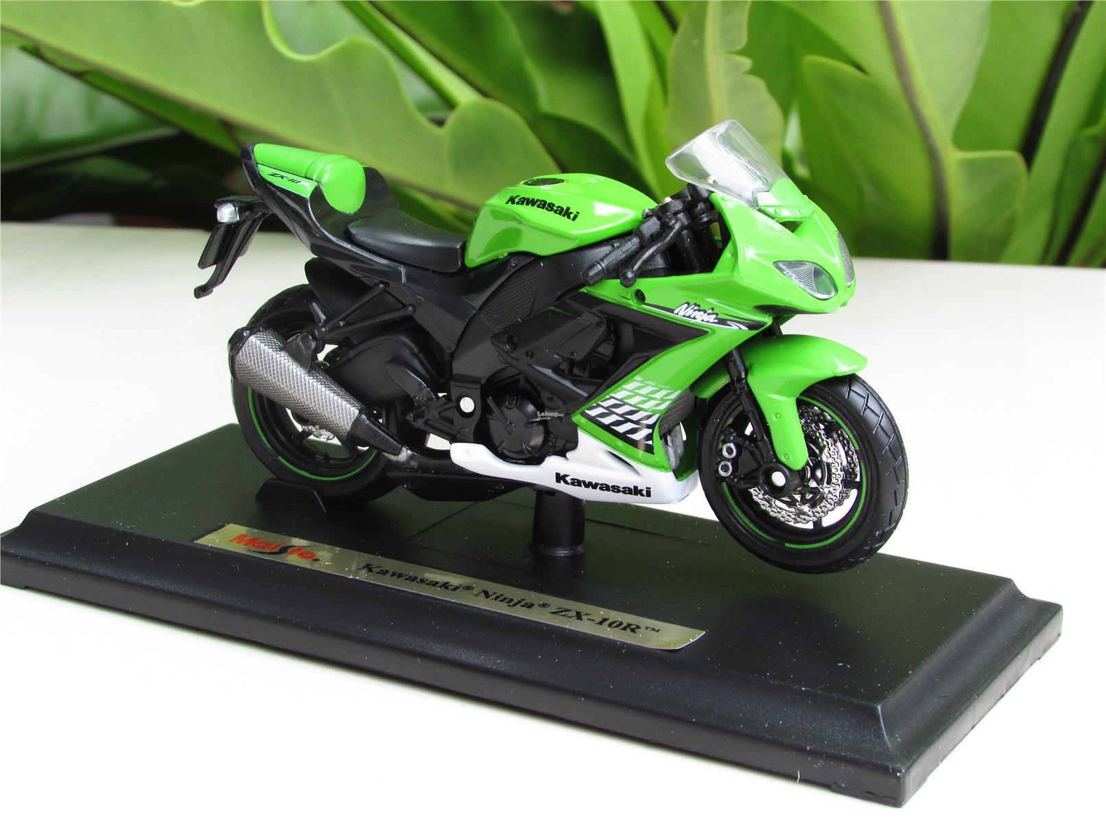 Maisto 1/18 Diecast Motorcycle Kawasaki Ninja ZX10R(G)