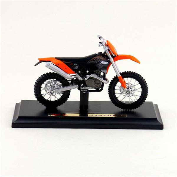 Maisto 1/18 Diecast Motorcycle KTM 450EXC (Orange)