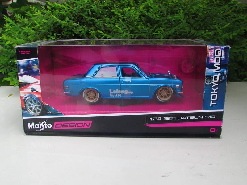 Maisto 1/24 Diecast Car Tokyo Mod 1971 Nissan Datsun 510 Bluebird SSS