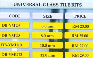 Majesta-Universal Glass Tile Bits-8mm