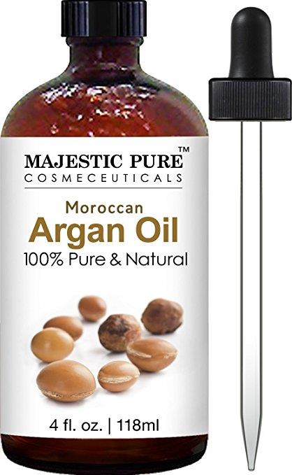 Majestic Pure Moroccan Argan Oil for Face, Nails, Beard & Cuticles