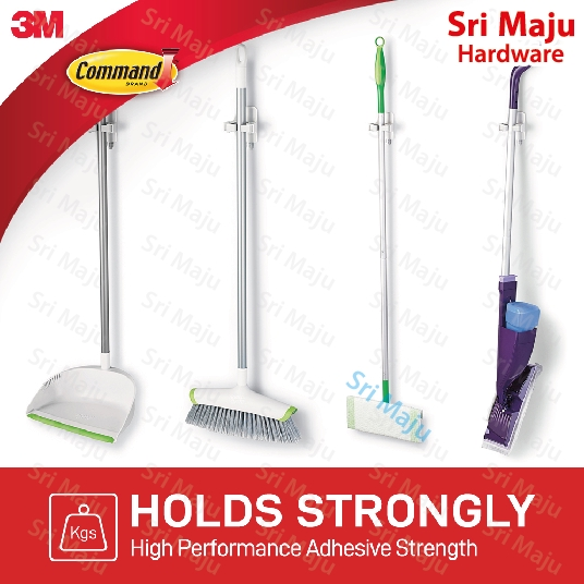 MAJU 3M Command (Twin Pack) 17007 (2) Broom Gripper Magic Organize