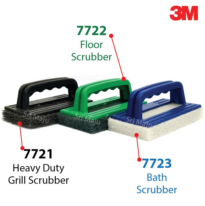 MAJU 3M Scotch Brite 7721 Heavy Duty Grill Scrub Pad Brick Concrete BB