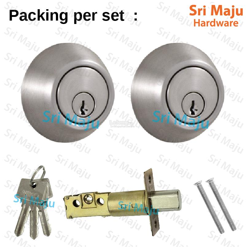 MAJU Double Cylinder Deadbolt SN / AC Lock Door Security Safety Lockse