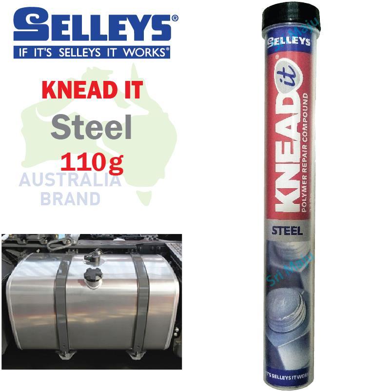 MAJU Selleys Knead It Steel 110g Epoxy Putty 2 Ton Repair Rebuild Meta