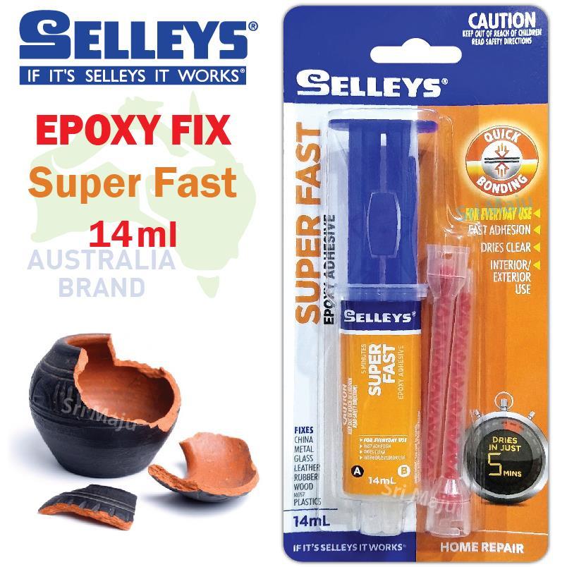 MAJU Selleys Syringe Epoxy Super Fast 14ml A+B Glue Metal Tank Radiato