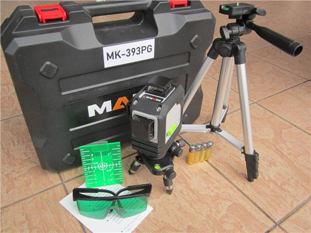 Maka 3D 12-Lines 360° Cross Line Self-Leveling Green Laser