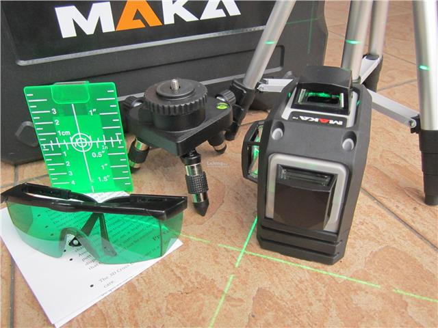 Maka 3D 360° Green Laser Level Self-Leveling Horizontal & Vertical