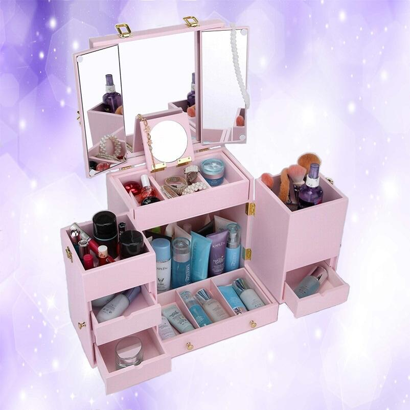 Makeup Organizer Luxury Cabinet With Multiple Drawers Tabletop
