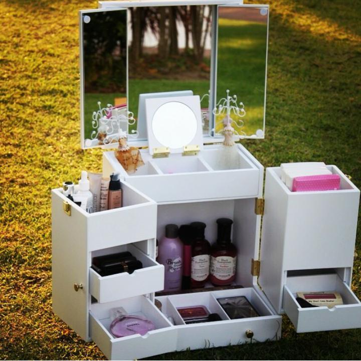 Great Makeup Organizer Luxury Cabinet With Multiple Drawers Tabletop