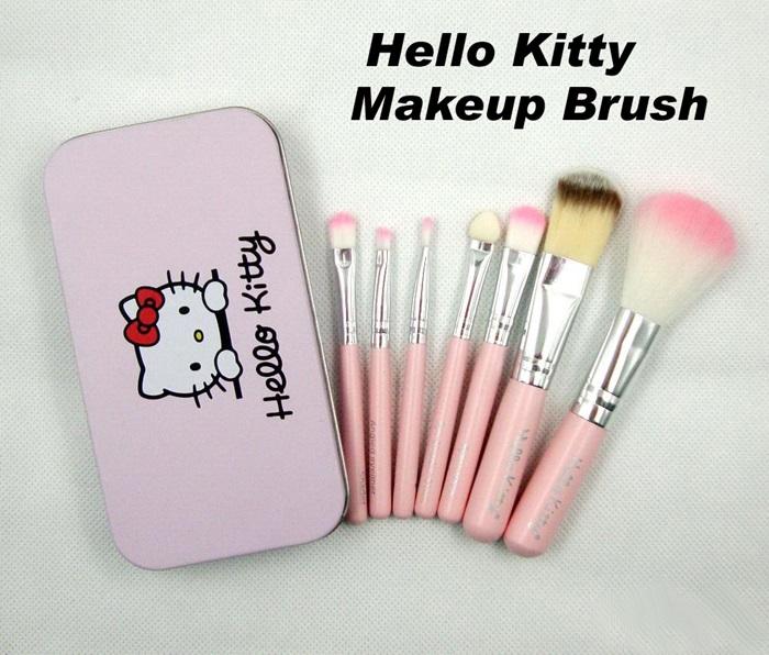 bf70f0931 Makeup Set Hello Kitty Brush 7 Pieces Brush Set With Iron box. ‹ ›