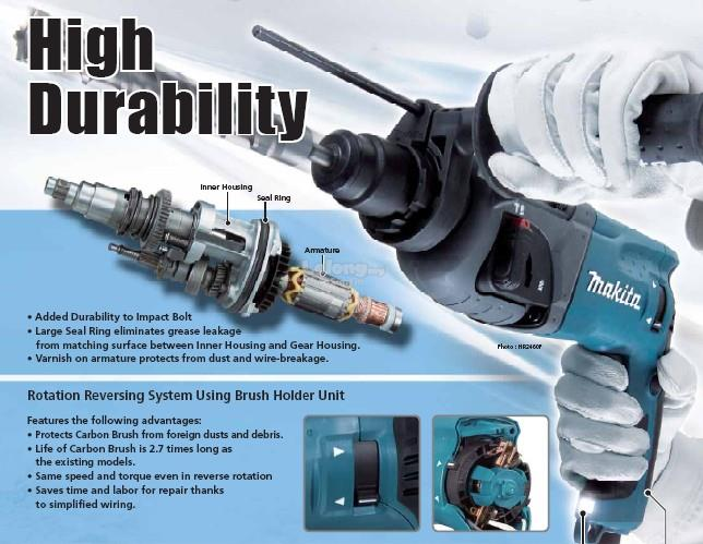Makita HR2470 3-Modes SDS-Plus Rotary Hammer Drill