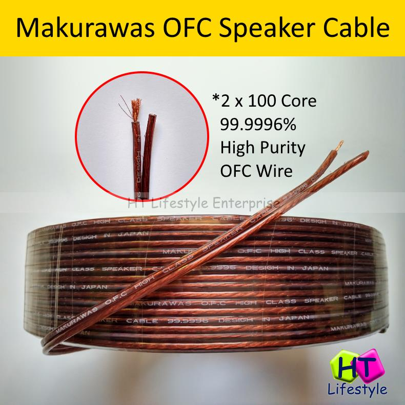 Makurawas 5 Meters Copper Hi-Fi / Home Theater OFC Speaker Wire Cable