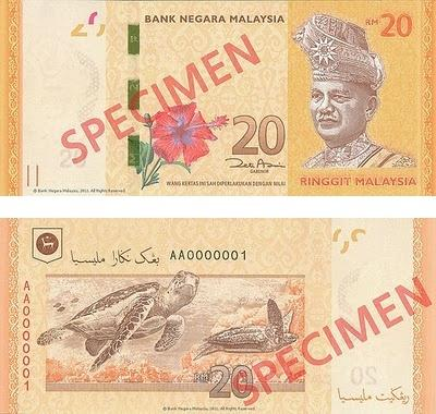 MALAYSIA 2012 New Series Banknote RM20 with Folder