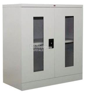 Malaysia Filing Cabinet: Half Height Glass Swing Door Cabinet