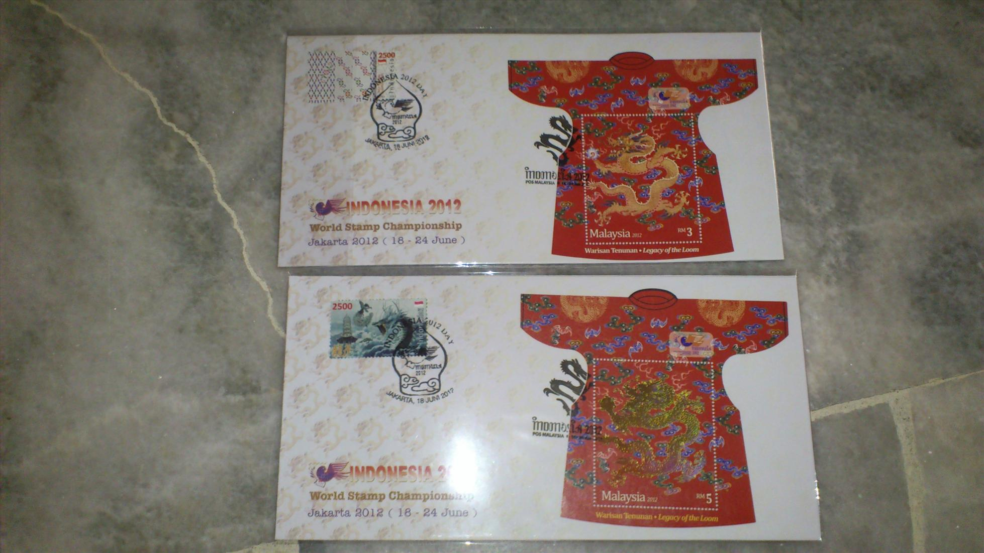 Malaysia Indonesia Dragon Legacy of Loom FDC Set