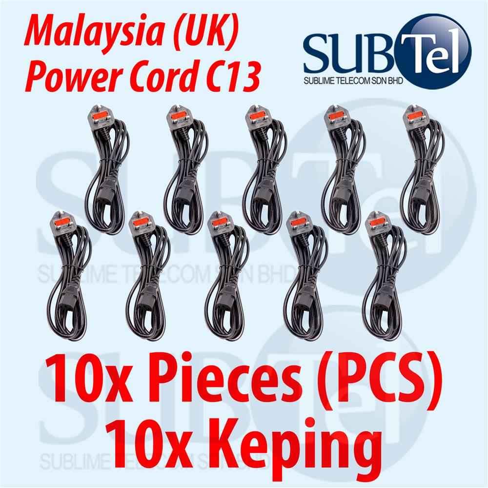 Malaysia Power Cord (UK) Fused 1.5 meters C13 cable for PC Desktop TV