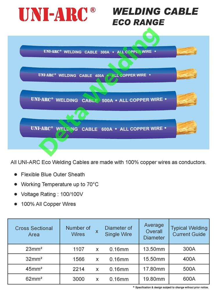 malaysia pure copper welding cable 300amp 1 roll 90 meter