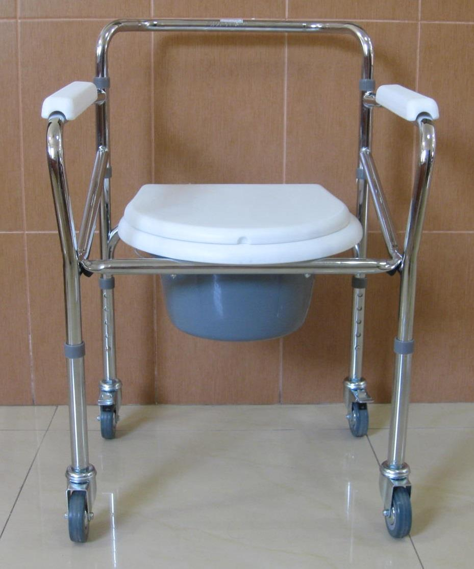 Malaysia shower commode chair with wheels kerusi tandas mandi roda