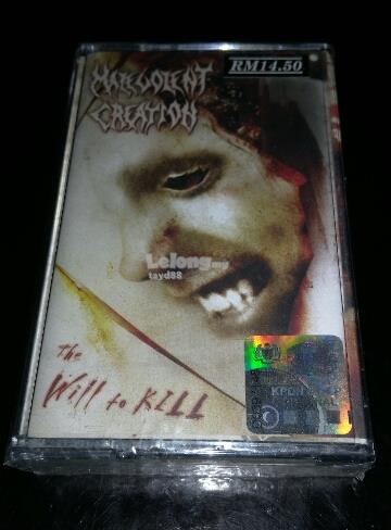 MALEVOLENT CREATION - THE WILL TO KILL. CASSETTE KASET