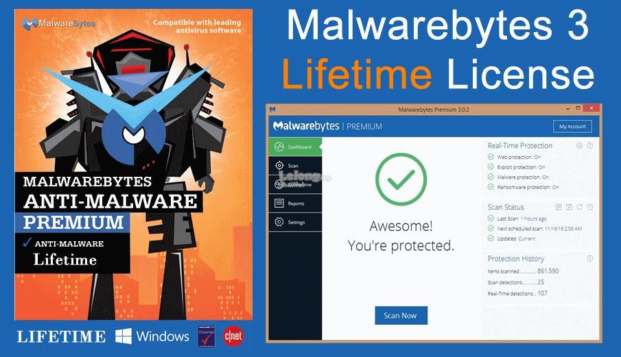 malwarebytes anti malware premium lifetime license 2017