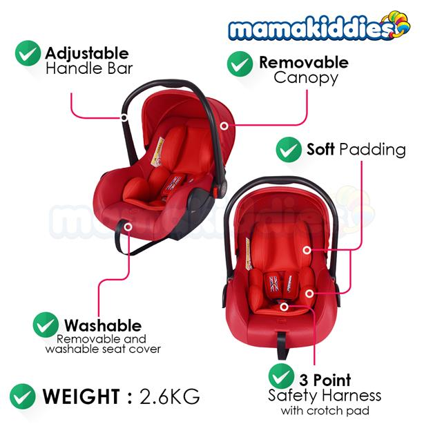 Mamakiddies New Born Infant Car Seat Baby Carrier Carseat