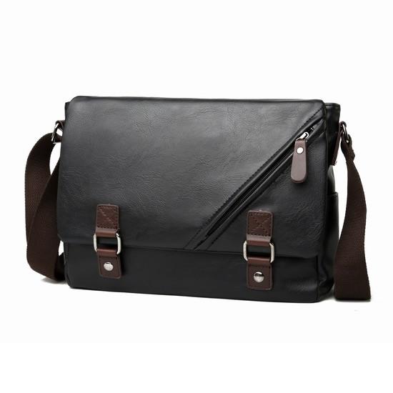 f3ba5bfcb2 Man Black Leather Stylish MEssenge (end 11 27 2020 11 54 AM)
