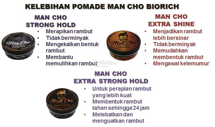 Man Cho Pomade Strong Hold Biorich (POMADE-SH)