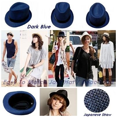 Man Woman Unisex Trendy Stylish Hats Beach Hats Summer Hats - Blue. ‹ › 7672eb6ba2a