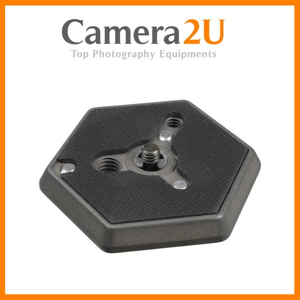 "NEW Manfrotto 130-14 Hexagonal Quick Release Plate with 1/4""-20 Screw"