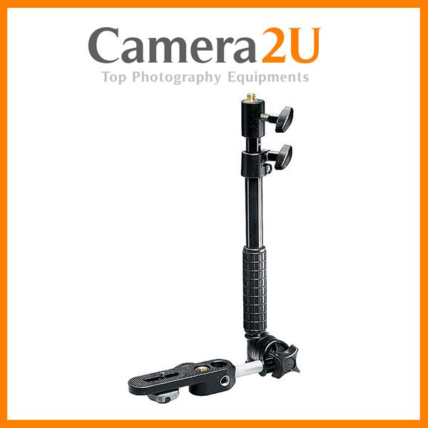 NEW Manfrotto 233B Camera Mount Bracket with Telescopic Flash Holder