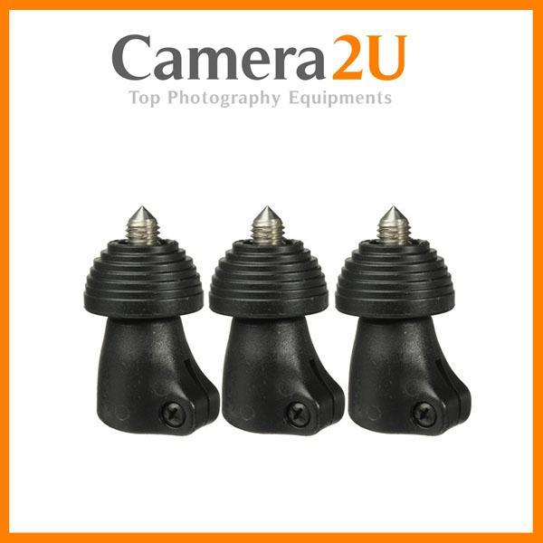 NEW Manfrotto 441SPK2 Spiked Foot Set of 3 Tube D20,4TR