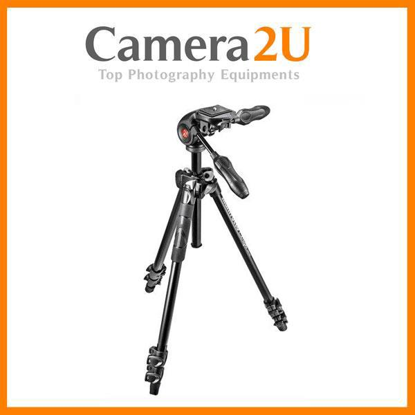 Manfrotto LIGHT Tripod Kit with foldable 3 Way head MK290LTA3-3W