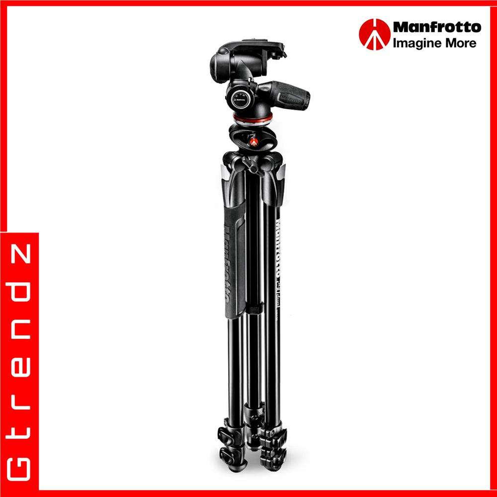 Manfrotto MK290DUA3-3W 290 Dual Aluminium 3-Section Tripod Kit