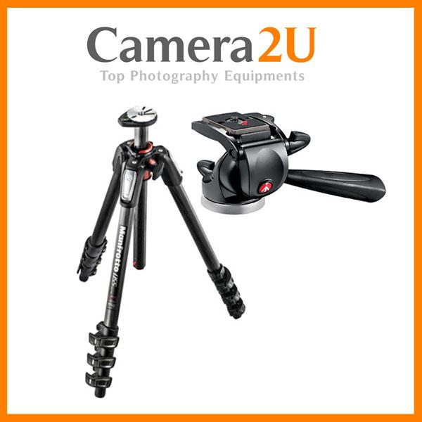 NEW Manfrotto MT055CXPRO4 Carbon Pro Tripod with 391RC2 Video Head